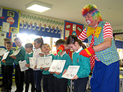 Gary the Clown at Crickhowell Primary School