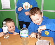 Pupils at the Senedd launch of NSEW